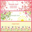 Greeting horizontal cards — Vector de stock #24638843