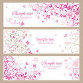 Beautiful pink horizontal banners — Vettoriale Stock