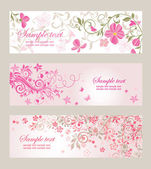 Beautiful floral banners — Wektor stockowy