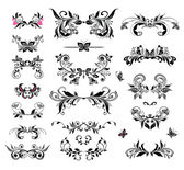 Vintage headers (black and white) — Stock Vector