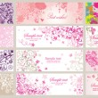 Beautiful greeting horizontal banners - Imagen vectorial