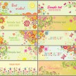 Royalty-Free Stock Vectorafbeeldingen: Set of greeting horizontal cards