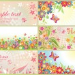 Spring and summery horizontal banners — Stock Vector