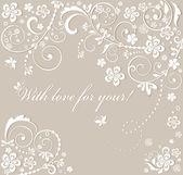 Beautiful wedding card — Vetor de Stock