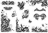 Vintage design elements (black and white) — 图库矢量图片