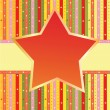 Colorful label with star — Stock Vector