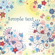 Summery colorful card — Image vectorielle