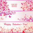 Valentines banners — Stock Vector #31871119