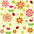 Childish wallpaper — Stock Vector #31870443