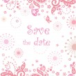 Save the date — Stock Vector