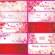 Set of valentines day banners — Imagen vectorial
