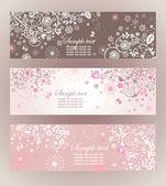 Красивые цветочные горизонтальные баннеры — Cтоковый вектор