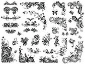 Zwart-wit vintage designelementen — Stockvector