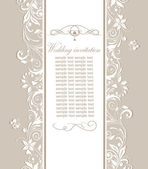 Pastel retro wedding invitation — Vettoriale Stock