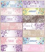 Conjunto de carteles de felicitación horizontal — Vector de stock