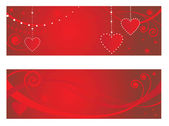 Valentines greeting banners — Stock Vector