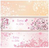 Wedding invitations — Stock Vector