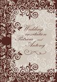 Wedding vintage invitation — Stock Vector