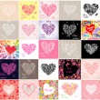 Hearts — Vector de stock