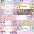 Set of horizontal greeting banners — Vettoriali Stock