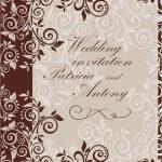 Wedding vintage invitation — Stock Vector #31990303