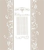 Pastel retro bruiloft uitnodiging — Stockvector