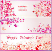 Valentines-Banner — Stockvektor