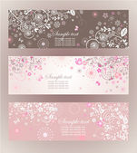 Beautiful floral horizontal banners — Stock Vector