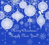 Modré vánoce bezešvé pozadí — Stock vektor