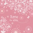 Beautiful greeting pink lacy card — ストック写真