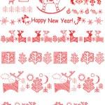 Christmas red borders — Stock Photo