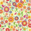 Stock Photo: Floral colorful wallpaper.