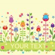 Seamless abstract border with colorful tulip — Stock Photo