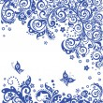 Vintage blue floral background — Stock Photo