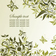 Vintage olive floral background. Raster copy of vector image — Stock Photo