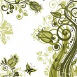 Stock Photo: Vintage olive floral banner. Raster copy of vector image