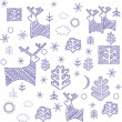 Xmas retro wallpaper — Stock Photo