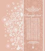 Pastelově růžové svatební Pozvánka — Stock fotografie