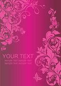 老式花粉红色横幅 — 图库照片