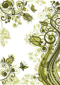 Vintage olive floral banner. Raster copy of vector image — Stock Photo