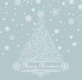Vintage weihnachtsbaum — Stockfoto