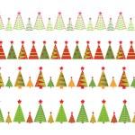 Christmas seamless borders — Stock Photo