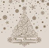 Retro christmas greeting. — Stock Photo