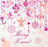 Christmas seamless border — Stock Photo