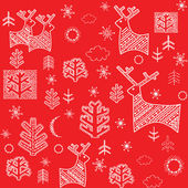 Red winter wallpaper. Raster copy — Stock Photo