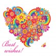 Colorful flower heart — Stock Vector #36358397