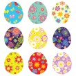 Colorful easter painted eggs — Stock Vector #39005593