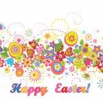 Easter seamless border — Stock Vector