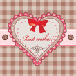 Greeting card with heart — Vector de stock #39006255