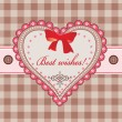 Greeting card with heart — ストックベクタ